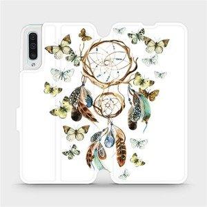 Flipové pouzdro Mobiwear na mobil Samsung Galaxy A50 - M001P Lapač a motýlci