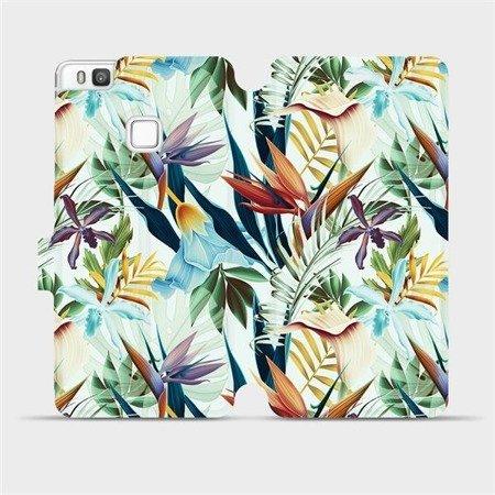 Flipové pouzdro Mobiwear na mobil Huawei P9 Lite - M071P Flóra