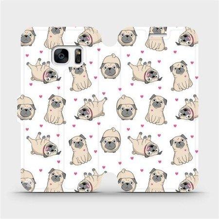 Flipové pouzdro Mobiwear na mobil Samsung Galaxy S7 - M097P Mopsíci