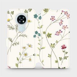 Flipové pouzdro Mobiwear na mobil Nokia 6.2 - MD03S Tenké rostlinky s květy