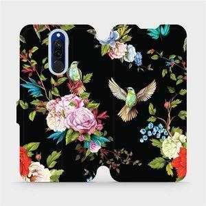 Parádní flip pouzdro Mobiwear na mobil Xiaomi Redmi 8 - VD09S Ptáčci a květy