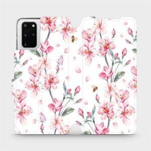 Flipové pouzdro Mobiwear na mobil Samsung Galaxy S20 Plus - M124S Růžové květy