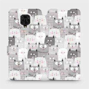 Flipové pouzdro Mobiwear na mobil Xiaomi Redmi Note 9 Pro - M099P Kočičky