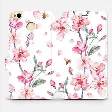 Flipové pouzdro Mobiwear na mobil Xiaomi Redmi 4X - M124S Růžové květy