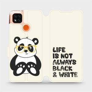 Flipové pouzdro Mobiwear na mobil Xiaomi Redmi 9C - M041S Panda - life is not always black and white