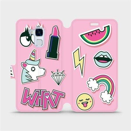 Flipové pouzdro Mobiwear na mobil Honor 7 Lite - M129S Růžové WHAT