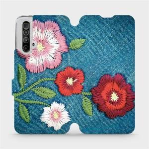 Flipové pouzdro Mobiwear na mobil Realme X3 SuperZoom - MD05P Džínové květy