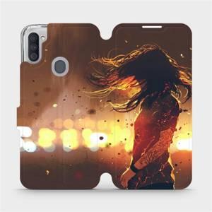 Flipové pouzdro Mobiwear na mobil Samsung Galaxy M11 - MA02S Tetovaná dívka