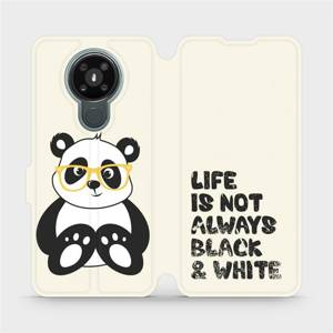 Flipové pouzdro Mobiwear na mobil Nokia 3.4 - M041S Panda - life is not always black and white