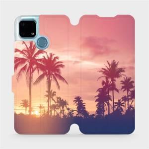 Flip pouzdro Mobiwear na mobil Realme 7i - M134P Palmy a růžová obloha