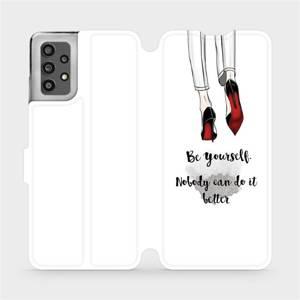 Flip pouzdro Mobiwear na mobil Samsung Galaxy A32 LTE - M046P Be yourself