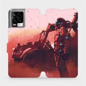 Flip pouzdro Mobiwear na mobil Realme 8 - MA09S Průzkumník s červeným vozítkem