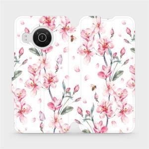 Flip pouzdro Mobiwear na mobil Nokia X20 - M124S Růžové květy