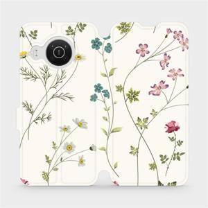 Flip pouzdro Mobiwear na mobil Nokia X10 - MD03S Tenké rostlinky s květy