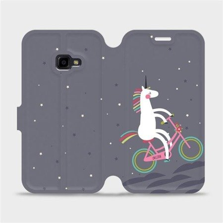Flipové pouzdro Mobiwear na mobil Samsung Xcover 4 - V024P Jednorožec na kole