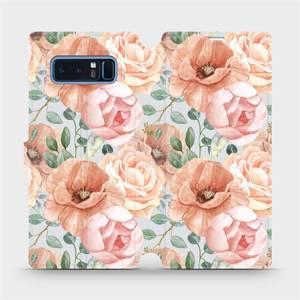 Flip pouzdro Mobiwear na mobil Samsung Galaxy Note 8 - MP02S Pastelové květy