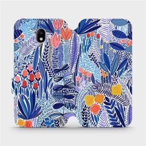 Flip pouzdro Mobiwear na mobil Samsung Galaxy J5 2017 - MP03P Modrá květena