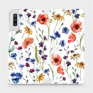 Flip pouzdro Mobiwear na mobil Samsung Galaxy A70 - MP04S Luční kvítí