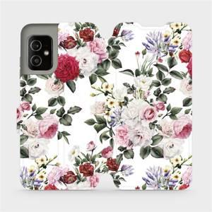 Flip pouzdro Mobiwear na mobil Asus Zenfone 8 - MD01S Růže na bílé
