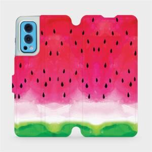 Flip pouzdro Mobiwear na mobil OnePlus Nord 2 5G - V086S Melounek