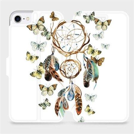 Flipové pouzdro Mobiwear na mobil Apple iPhone 7 - M001P Lapač a motýlci