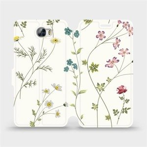 Flipové pouzdro Mobiwear na mobil Huawei Y6 II Compact - MD03S Tenké rostlinky s květy