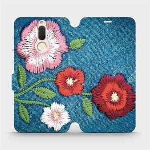 Flipové pouzdro Mobiwear na mobil Huawei Mate 10 Lite - MD05P Džínové květy