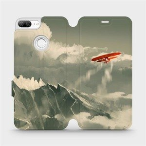 Flipové pouzdro Mobiwear na mobil Honor 9 Lite - MA03P Oranžové letadlo v horách