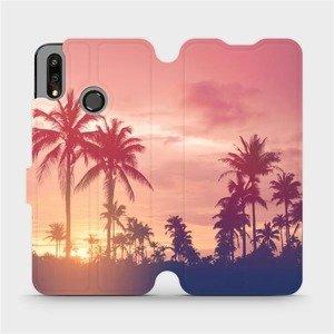 Flipové pouzdro Mobiwear na mobil Huawei P Smart 2019 - M134P Palmy a růžová obloha