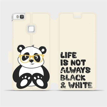 Flipové pouzdro Mobiwear na mobil Huawei P9 Lite - M041S Panda - life is not always black and white