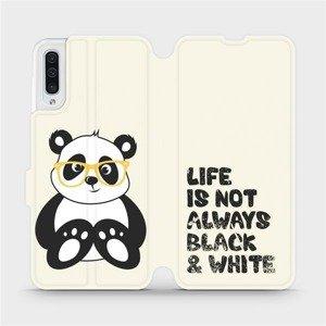 Flipové pouzdro Mobiwear na mobil Samsung Galaxy A50 - M041S Panda - life is not always black and white