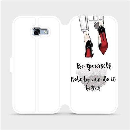 Flipové pouzdro Mobiwear na mobil Samsung Galaxy A3 2017 - M046P Be yourself