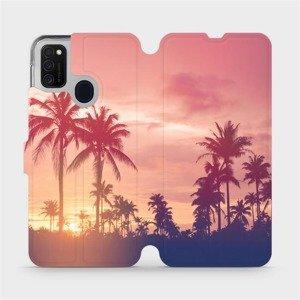 Flipové pouzdro Mobiwear na mobil Samsung Galaxy M21 - M134P Palmy a růžová obloha