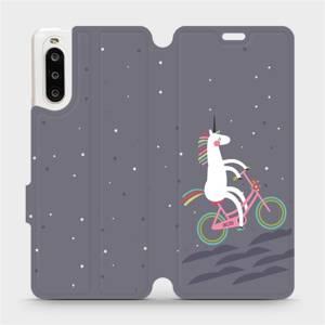 Flipové pouzdro Mobiwear na mobil Sony Xperia 10 II - V024P Jednorožec na kole
