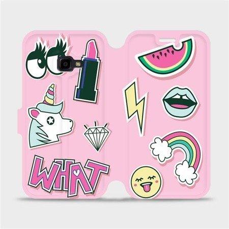 Flipové pouzdro Mobiwear na mobil Samsung Xcover 4 - M129S Růžové WHAT