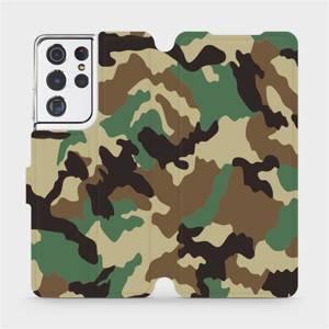 Flipové pouzdro Mobiwear na mobil Samsung Galaxy S21 Ultra 5G - V111P Maskáče