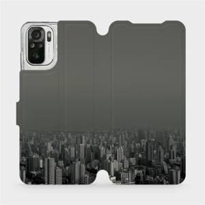 Flipové pouzdro Mobiwear na mobil Xiaomi Redmi Note 10 - V063P Město v šedém hávu