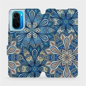 Flipové pouzdro Mobiwear na mobil Xiaomi Mi 11i / Xiaomi Poco F3 - V108P Modré mandala květy
