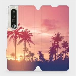 Flip pouzdro Mobiwear na mobil Sony Xperia 1 III - M134P Palmy a růžová obloha