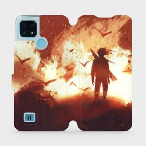 Flip pouzdro Mobiwear na mobil Realme C21 - MA06S Postava v ohni