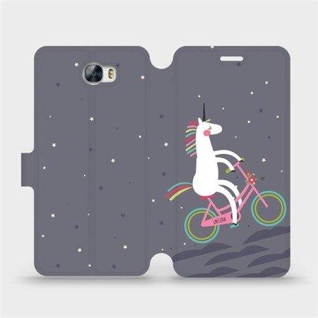 Flipové pouzdro Mobiwear na mobil Huawei Y5 II - V024P Jednorožec na kole