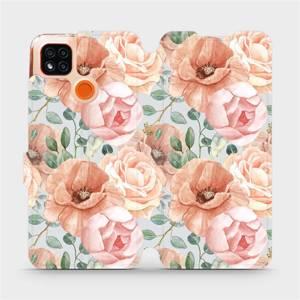Flip pouzdro Mobiwear na mobil Xiaomi Redmi 9C - MP02S Pastelové květy