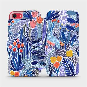 Flip pouzdro Mobiwear na mobil Apple iPhone SE 2020 - MP03P Modrá květena