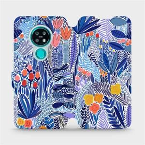Flip pouzdro Mobiwear na mobil Nokia 7.2 - MP03P Modrá květena