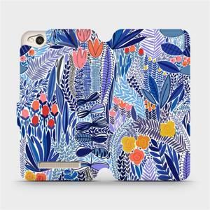 Flip pouzdro Mobiwear na mobil Xiaomi Redmi 4A - MP03P Modrá květena