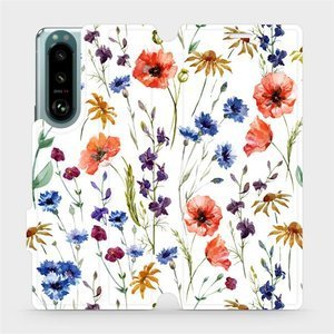 Flip pouzdro Mobiwear na mobil Sony Xperia 5 III - MP04S Luční kvítí