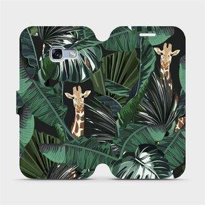 Flip pouzdro Mobiwear na mobil Samsung Galaxy A3 2017 - VP06P Žirafky