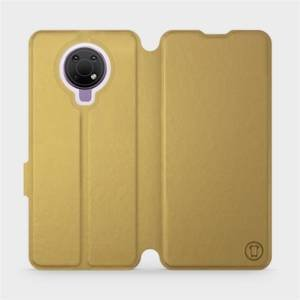 Flip pouzdro Mobiwear na mobil Nokia G10 v provedení C_GOP Gold&Orange s oranžovým vnitřkem
