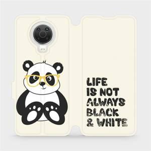Flip pouzdro Mobiwear na mobil Nokia G20 - M041S Panda - life is not always black and white
