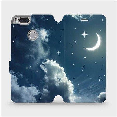 Flipové pouzdro Mobiwear na mobil Xiaomi Mi A1 - V145P Noční obloha s měsícem